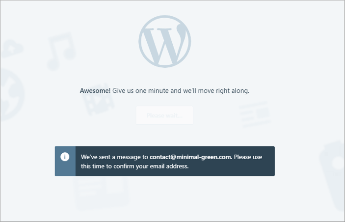 WordPress.com登録完了